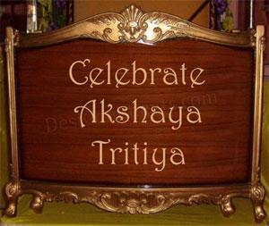 Celebrate Akshay Tritiya on Sunday 16 May 2010