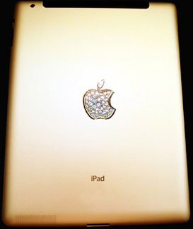 Gold & Diamond Embedded Ipad Stuart Hughes
