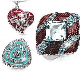 Colored Enamel .925 Sterling Silver Jewellery