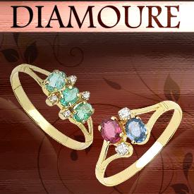 Diamoure Gold Plated Diamond Rings: For A Fashion Diva Like You!