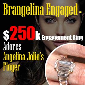 $250K Engagement Ring Adores Angelina Jolie's Finger