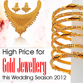 Indian Wedding Season 2012: Gold Jewellery On All Time High Price