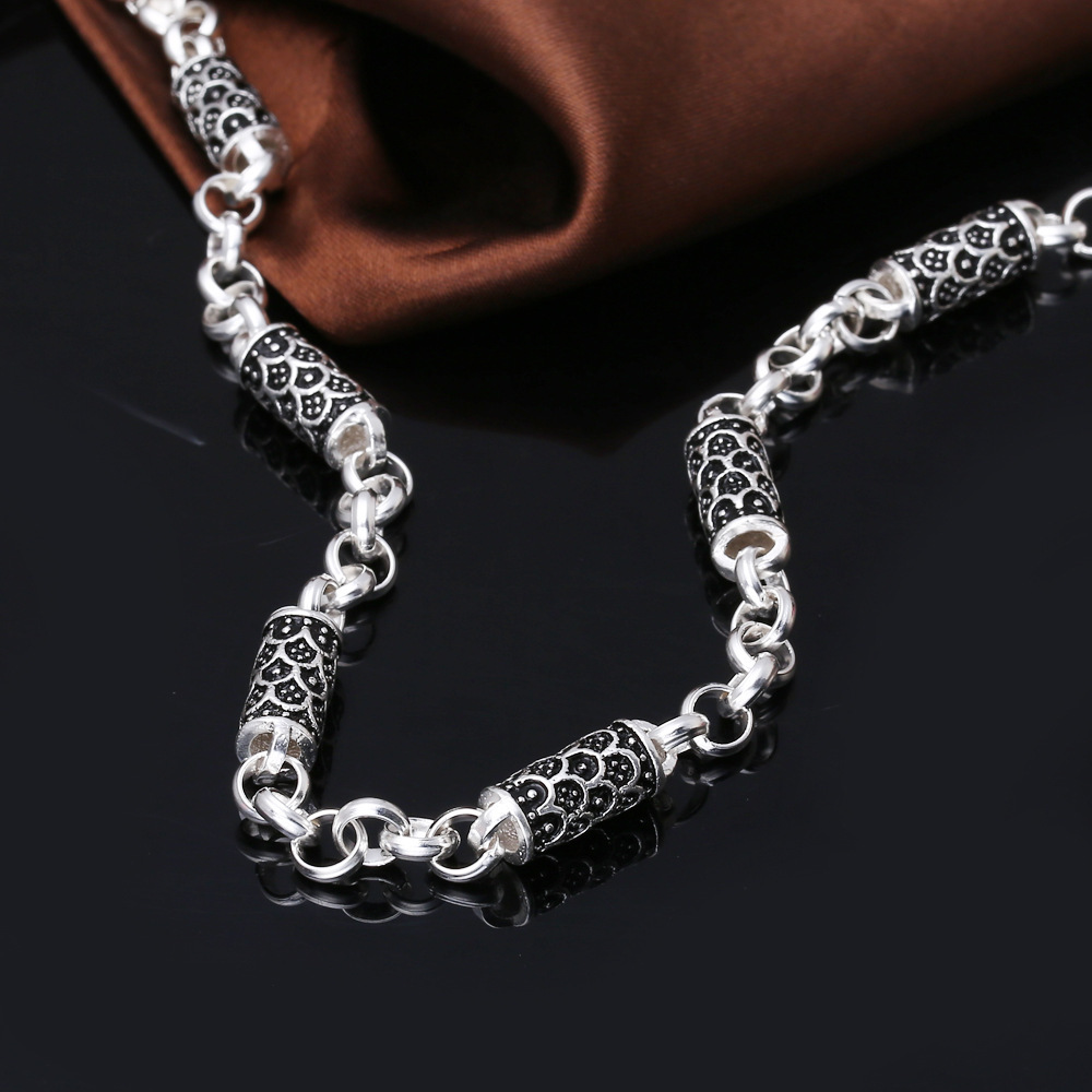Silver Chains For Men Meaeguet Fashion Stainless Steel 24