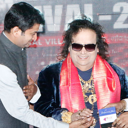 Gajendra Kumar Gupta, CEO – Johareez.com Auctions Pvt. Ltd. With Bappi Lahiri