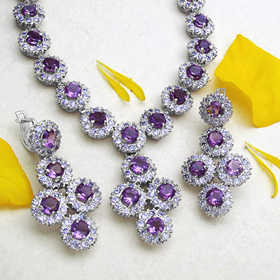 Amethyst Necklace Sets