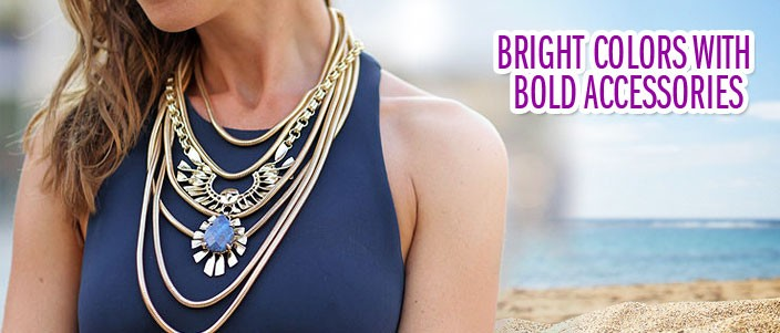 Bright Colors With Bold Accessories