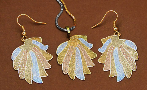 Two Tone Plated Pendant Sets
