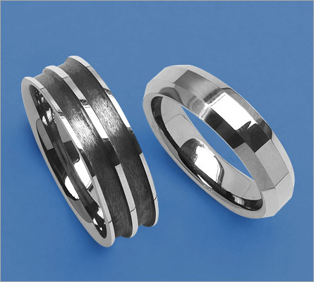 Black Tungsten Rings (Johareez.com)