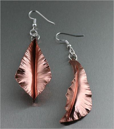 Copper Earrings ( handmade-contemporary-jewelry.com)