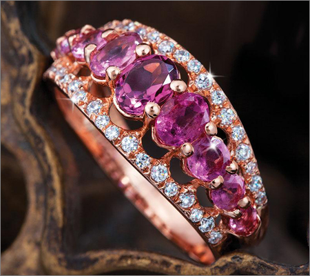 Pink Gemstone Ring (Source: stauer.com)