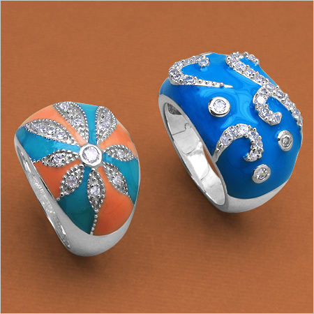 Marvelous Enamel Rings