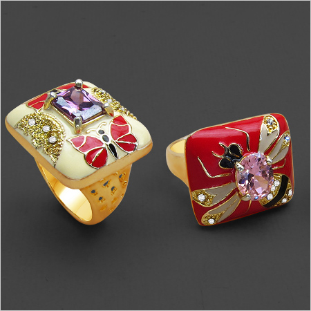 Stunning Enamel Ring