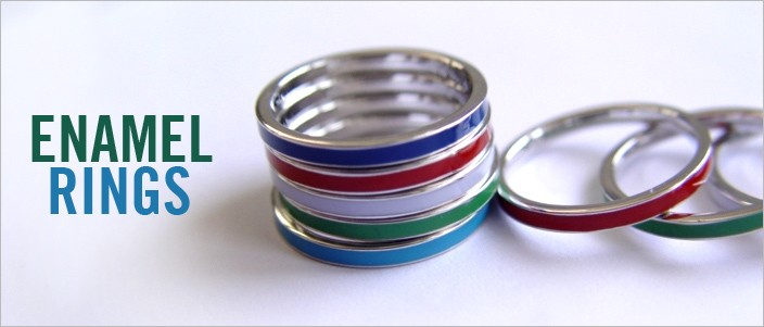 Enamel Rings