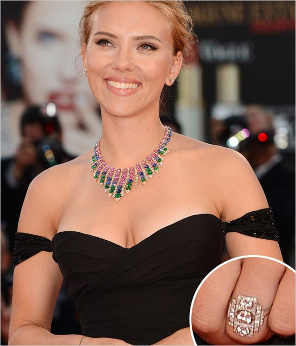Scarlett Johansson Engagement Ring (Source: pinterest.com)
