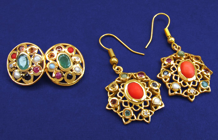 Navratan Jewellery (Earrings)
