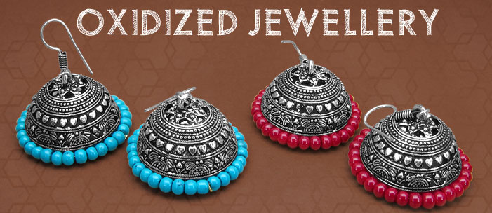 Oxidized Jewellery Trend Setting Path With Black Oxidized